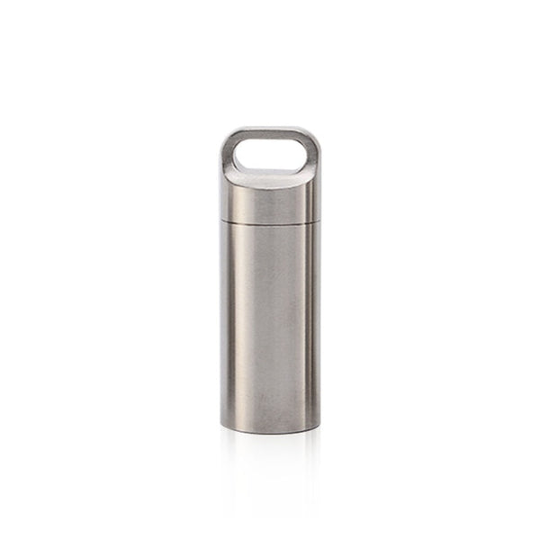 Mini Stainless Steel Waterproof Capsule Seal Bottle Outdoor EDC Survival Pill Box Container Capsule Pill Bottle Tank Case`