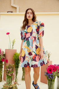 DELPHINE QUILTED DRESS