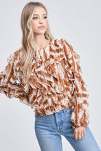 Load image into Gallery viewer, SYLVIE RUFFLE BLOUSE