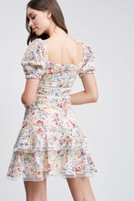 Load image into Gallery viewer, RUFFLED EYELET MINI DRESS