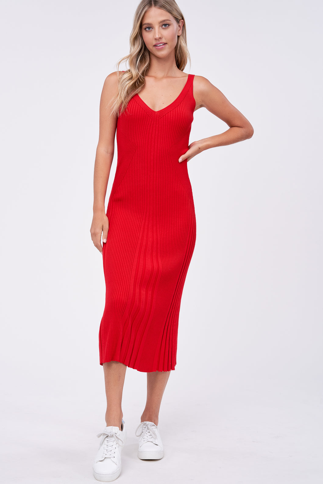 ARIA KNIT MIDI DRESS