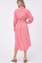 Load image into Gallery viewer, AMELIA PLAID MIDI DRESS