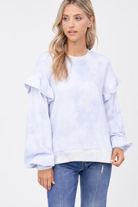 IVY TIE DYE FRENCH TERRY TOP