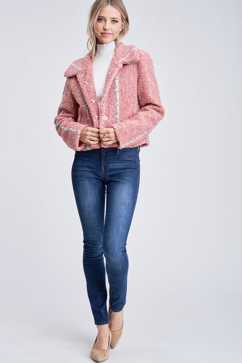 BRIELLE SHEARLING JACKET