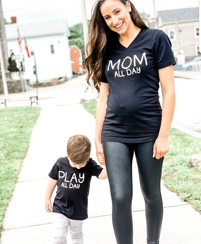 Mom All Day Play All Day • Mommy and Me Shirts -