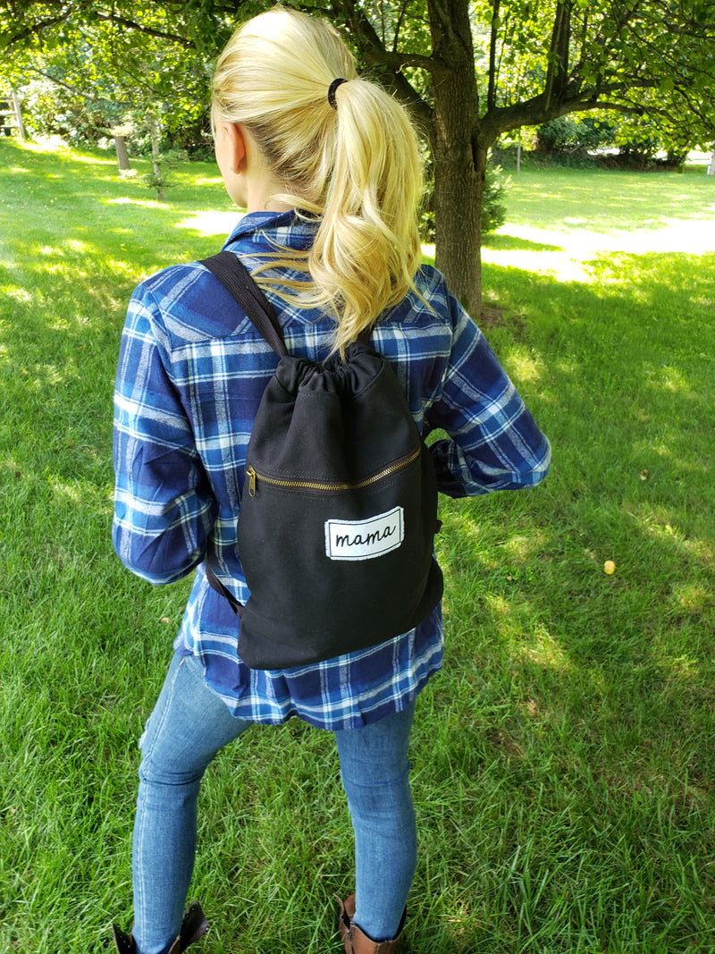 Mama Patch Drawstring backpack -
