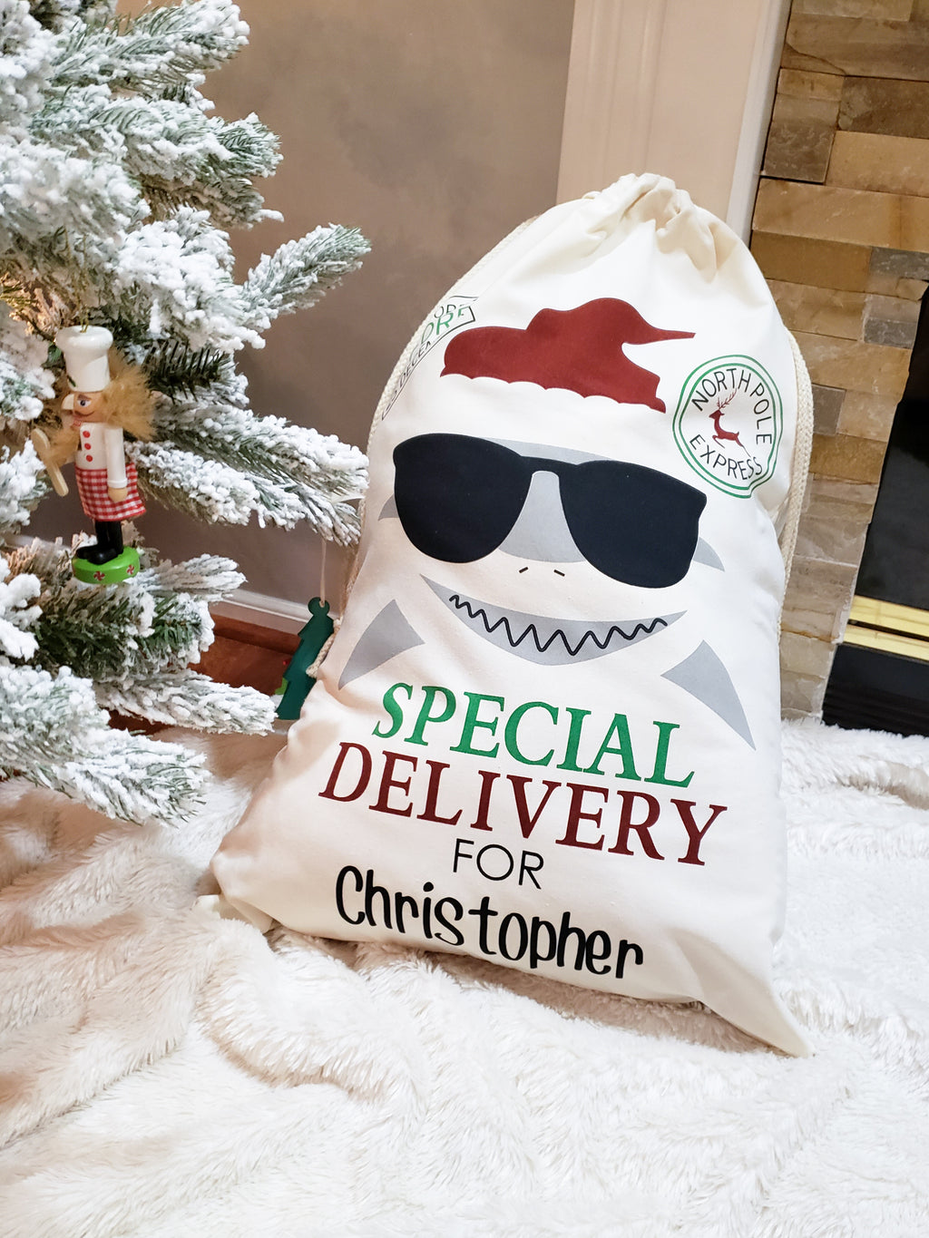 Baby Shark Santa Sack Bag
