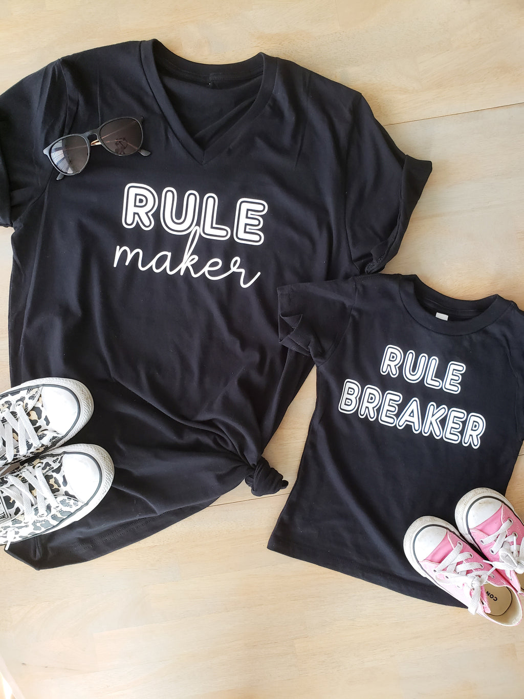 Rule Maker Breaker Matching Mommy and Me Tees