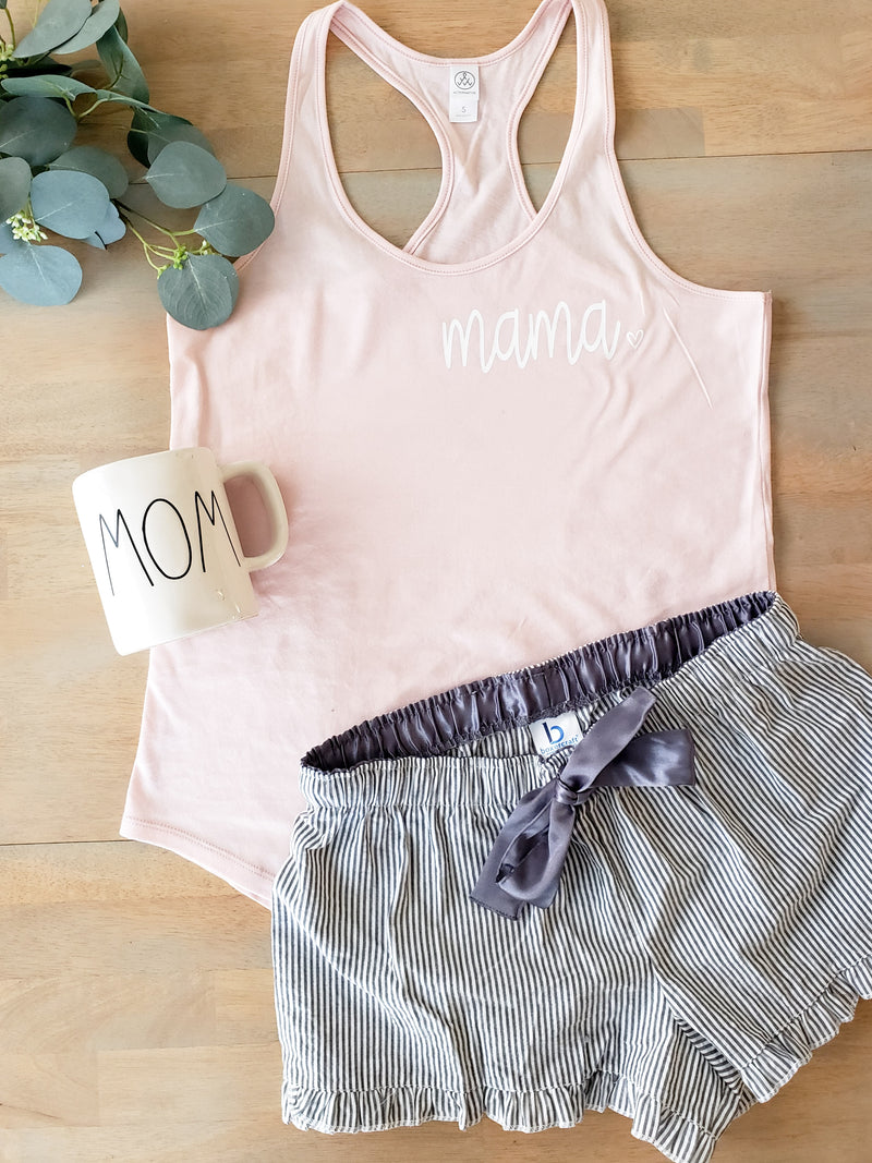 Pink and Grey Pajama Set