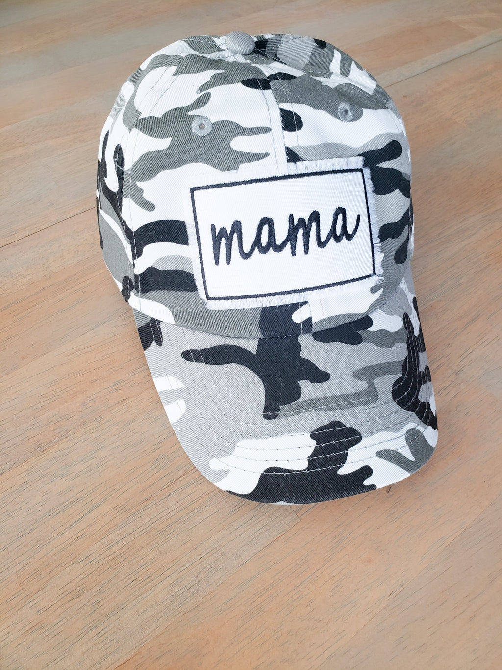 Grey Camo Patch Hat