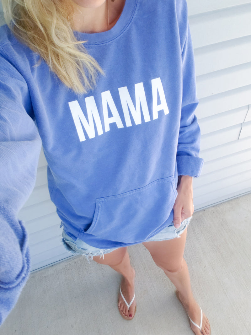 Flo Blue Mama french Terry Pullover