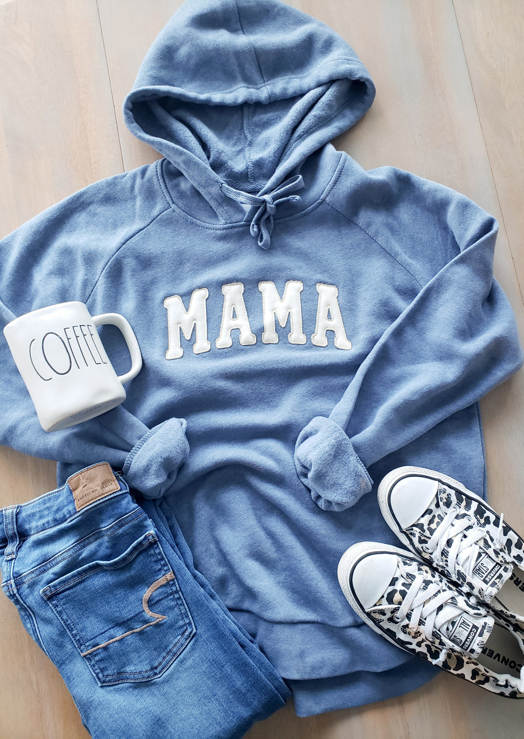 Blue Stitched Mama Angel Fleece Use Discount Code **SEEYA**