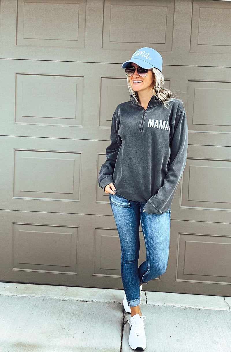 Pepper Mama Quarter Zip Sweatshirt