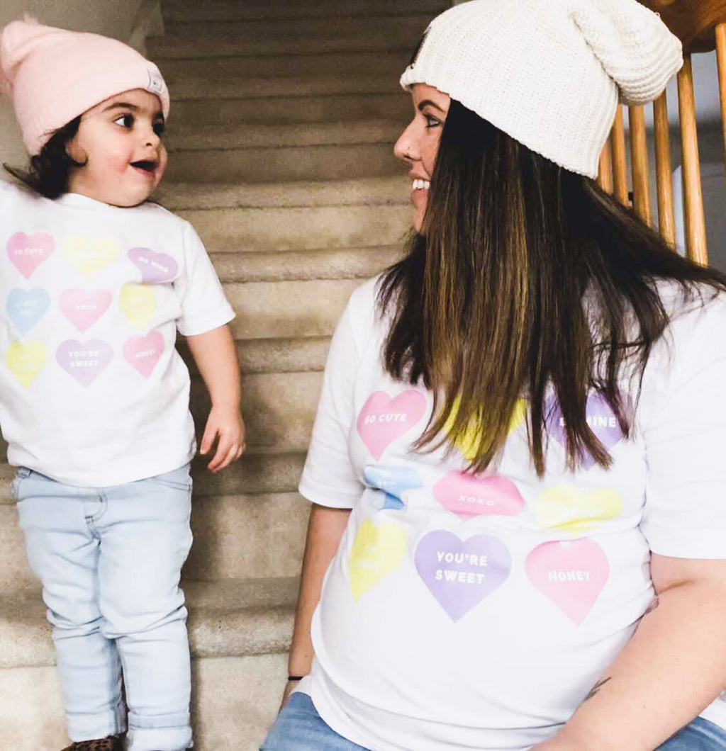 Matching Candy Heart Tees