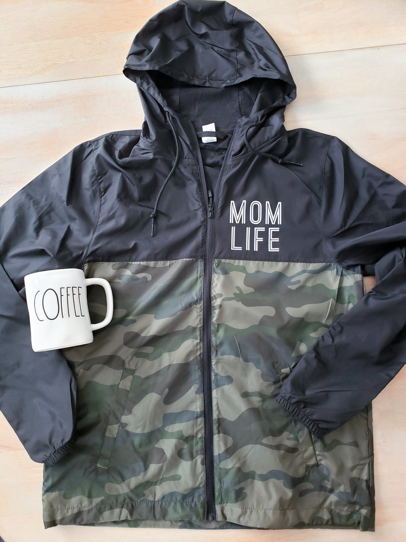 Mom Life Water Resistant Lightweight Windbreaker • Unisex Windbreaker -