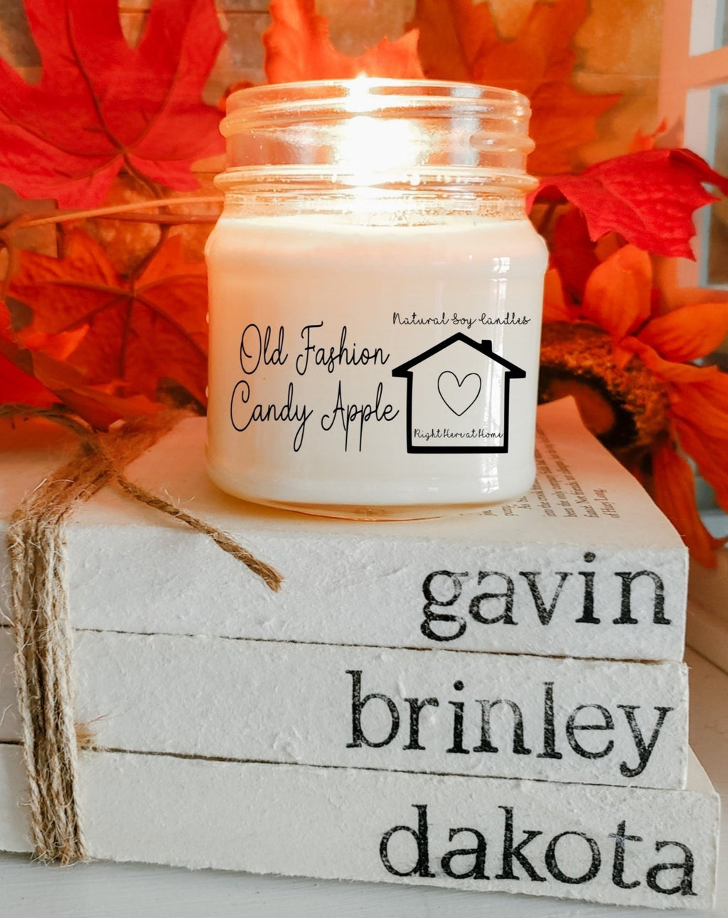 Old Fashion Candy Apple Candle