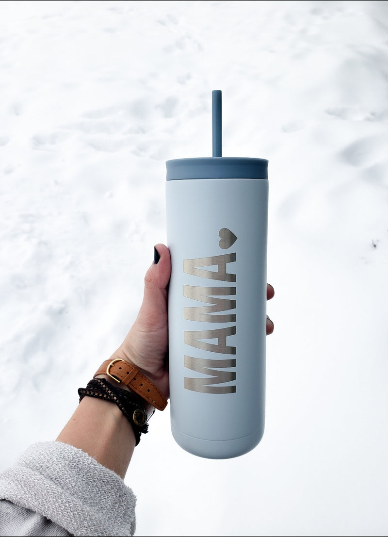 Iceburg Signature Mama Skinny Tumbler With Straw