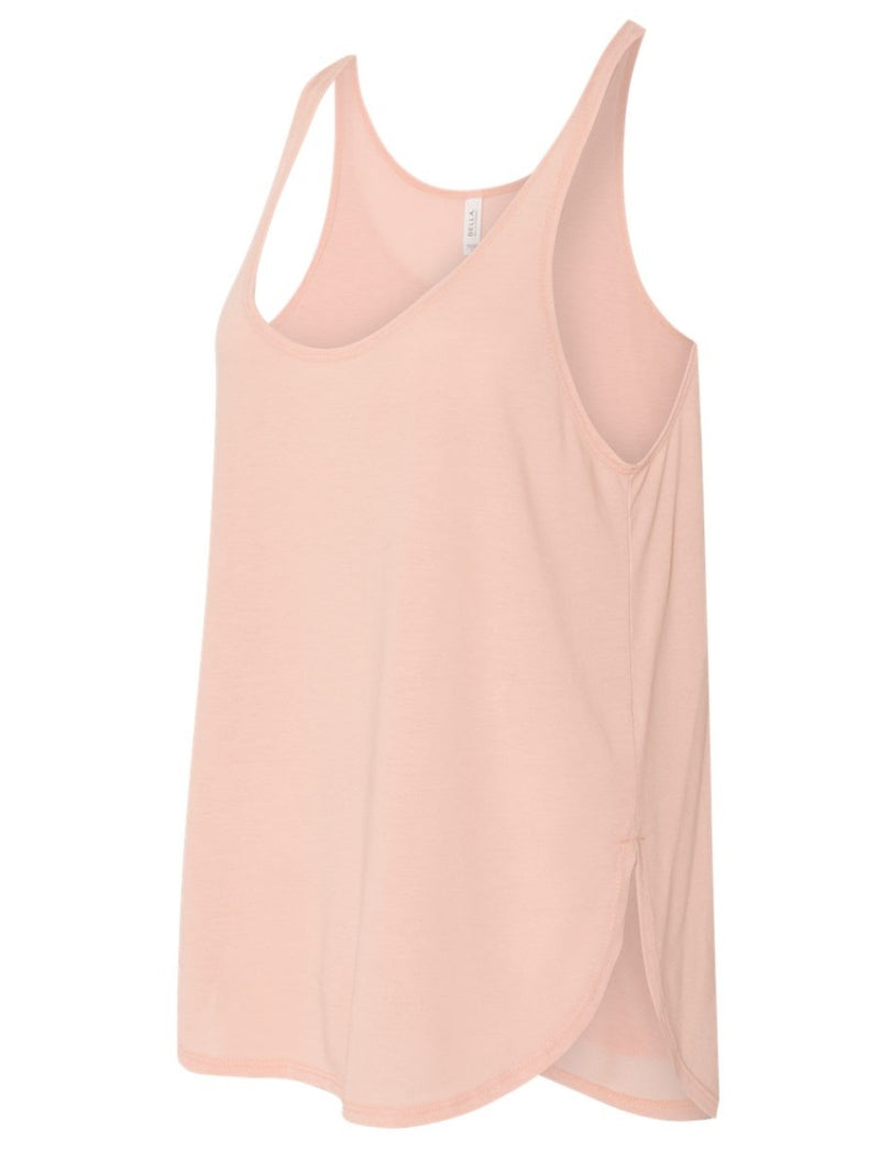 Women's Flowy Tank Top Relaxed Fit (Peach)