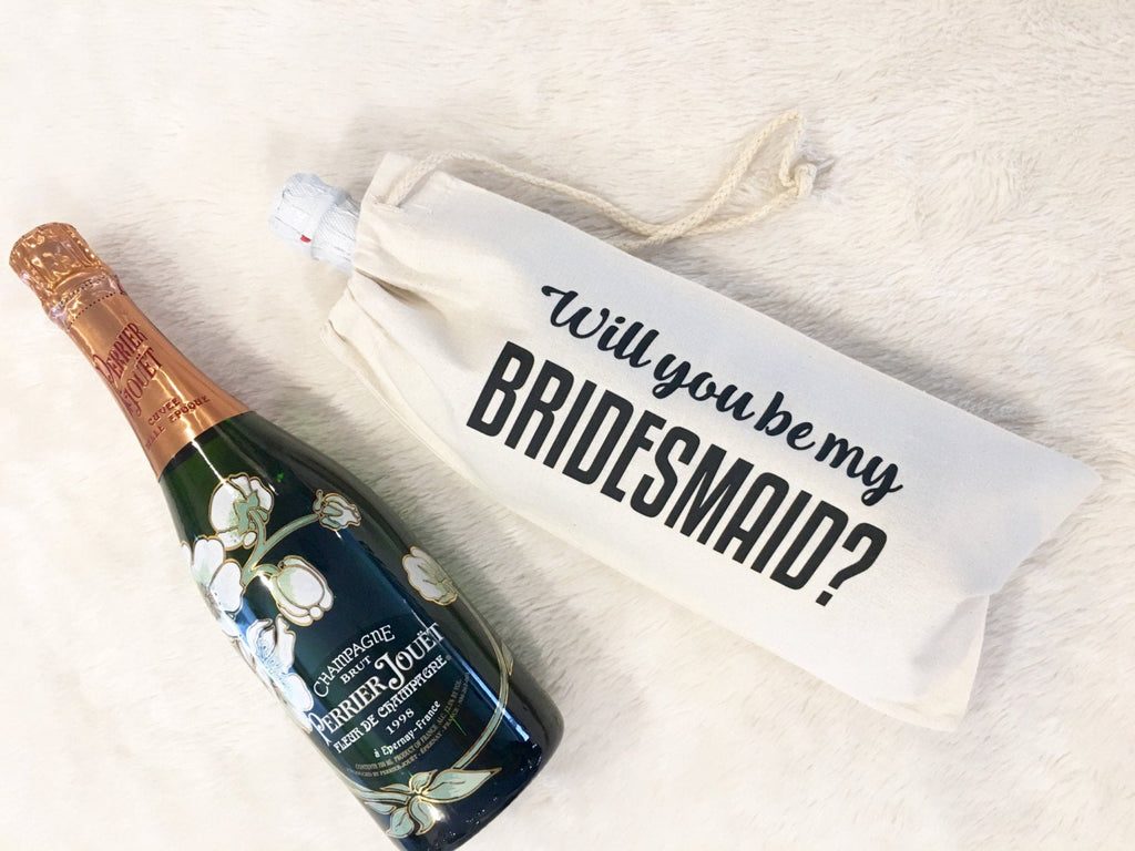 Will you be my bridesmaid Wine Bag -