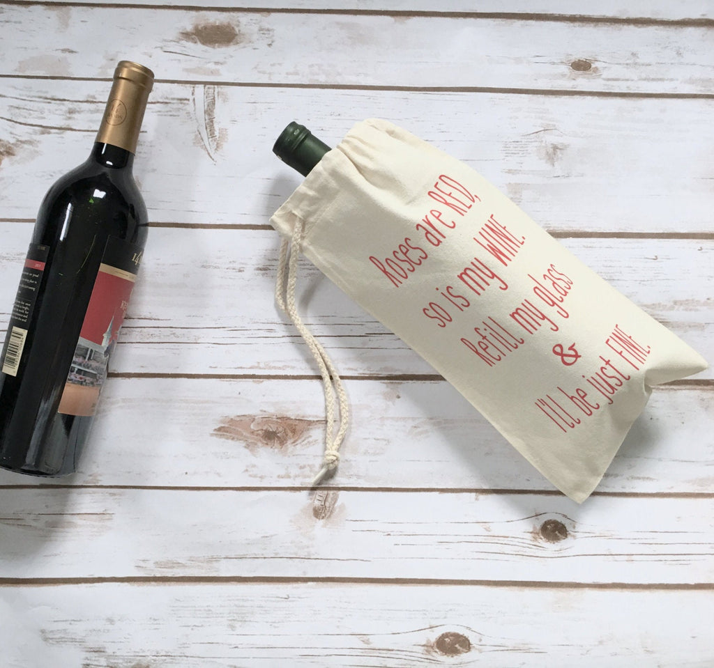 Valentine's Day wine bag -