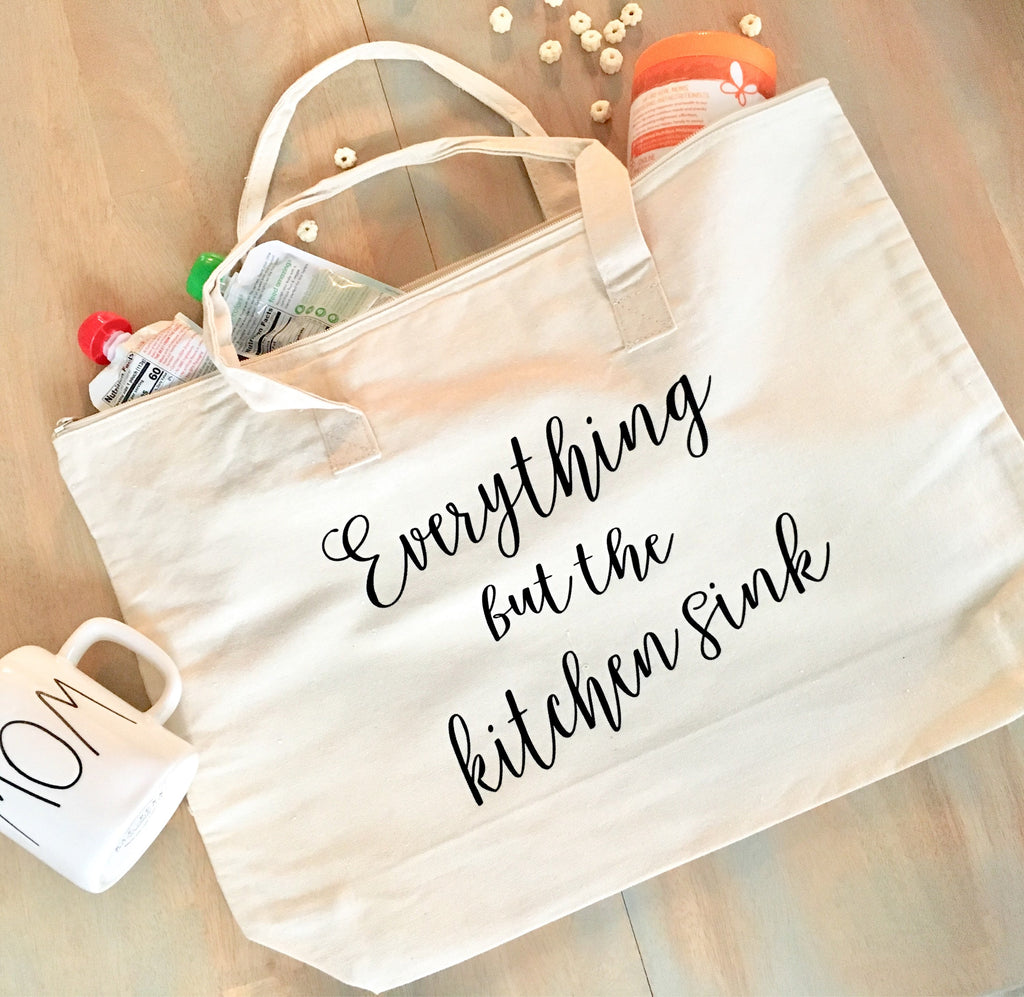 Everything But The Kicthen Sink • Canvas Tote Bag -