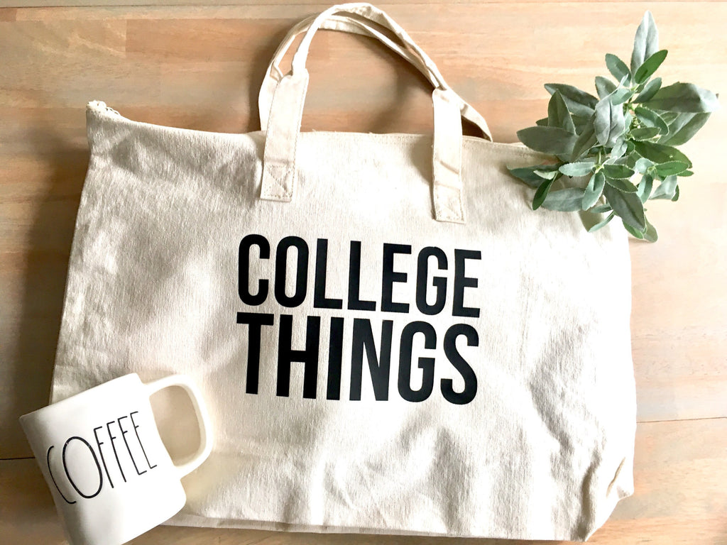 College Tote Bag • college Things Bag -