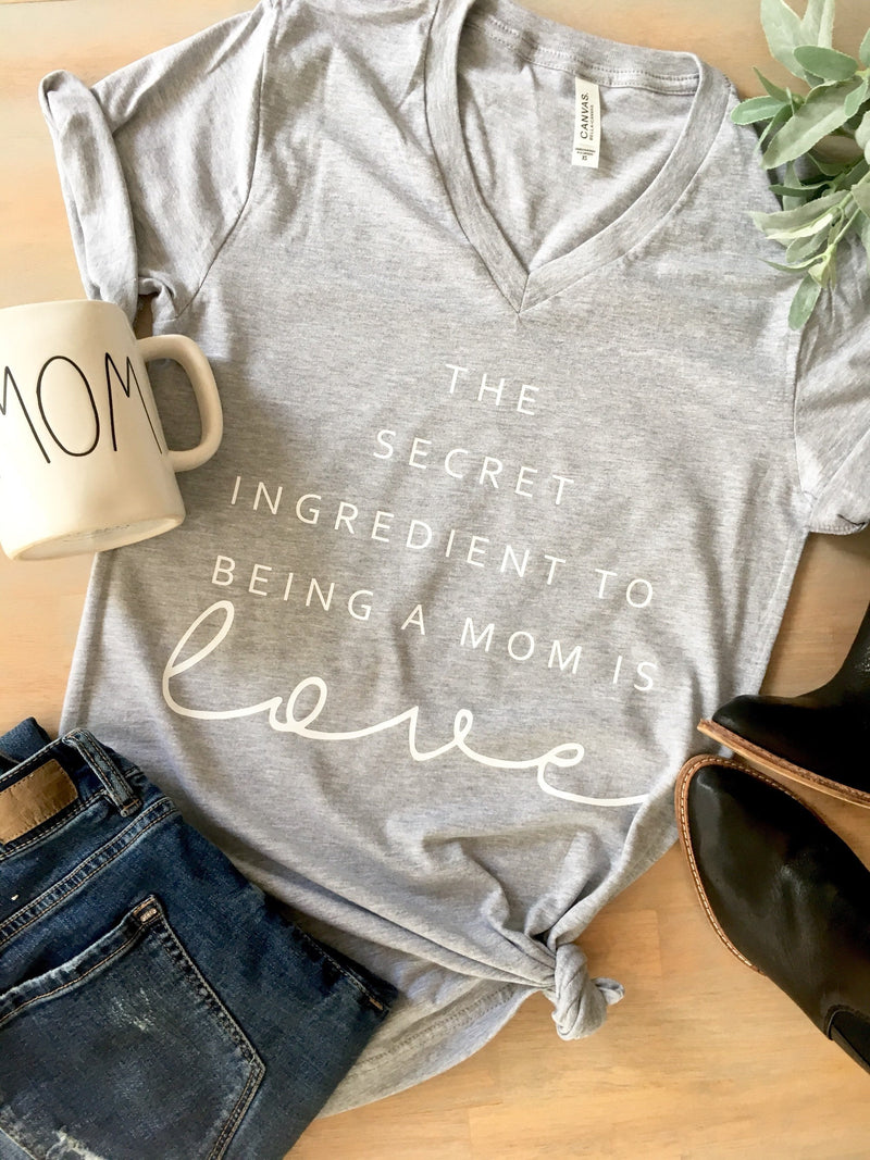 The secret ingredient to being a mom Shirt  • Mom Unisex V-Neck  Shirt -
