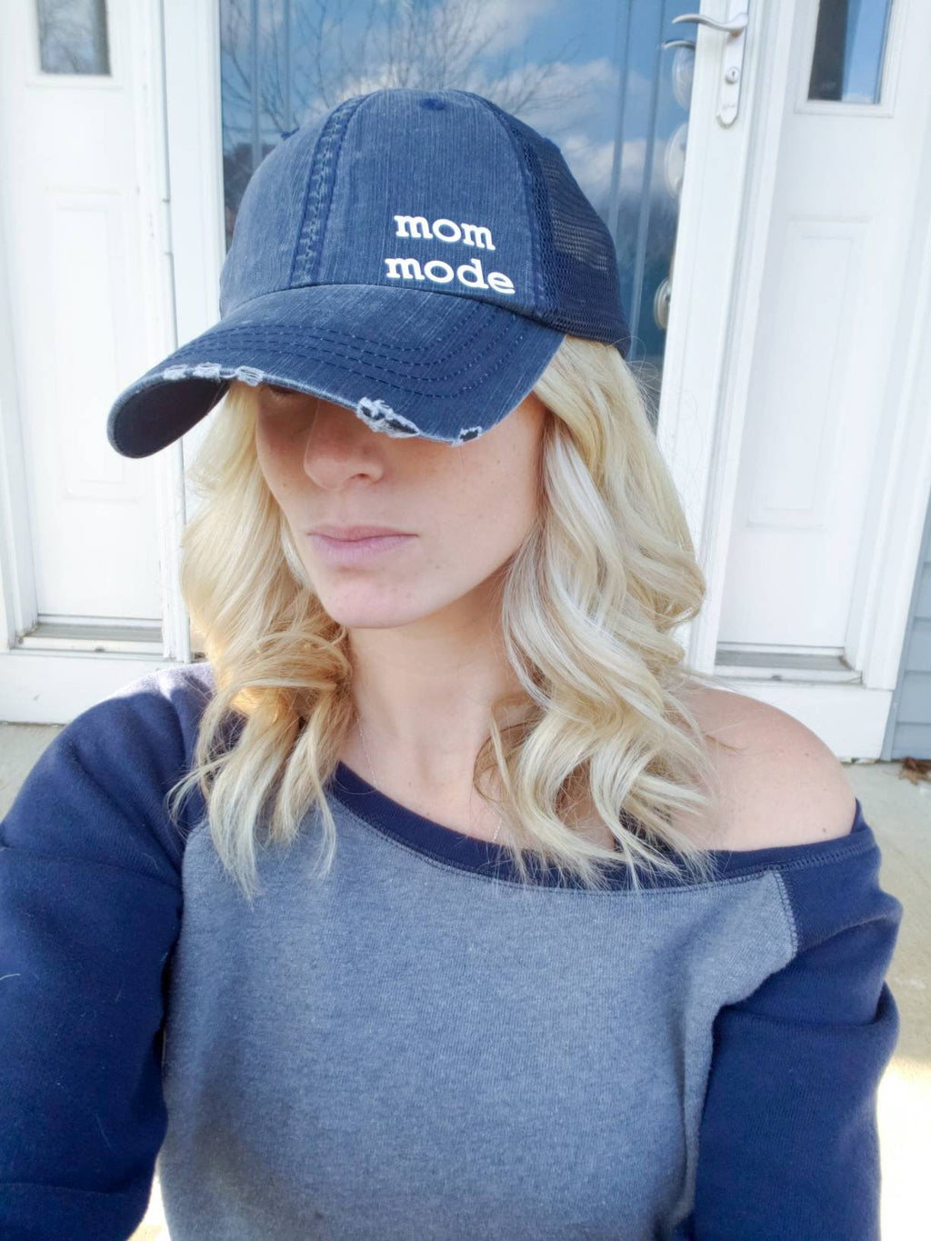 Mom Mode Hat • Vintage Trucker Mom Hat -