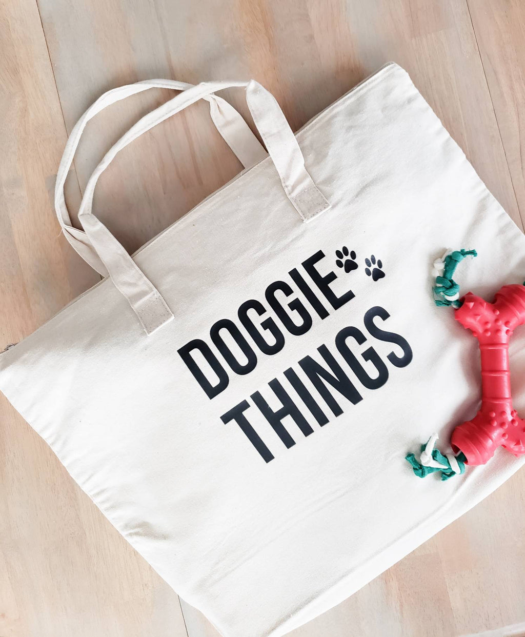 Doggie Things Bag • Canvas tote bag -