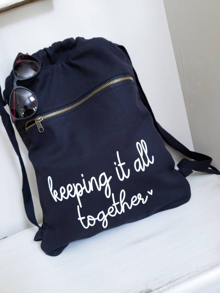 Keeping it all Together bag • Mom Draw String Backpack -