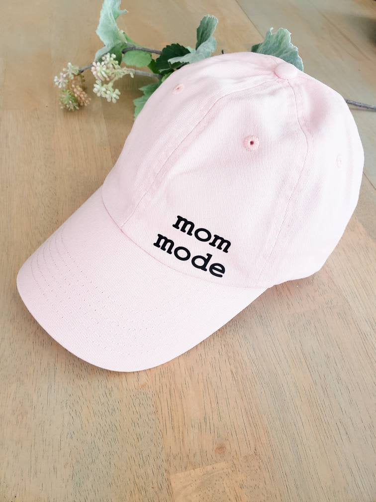 Mom mode pink hat • mama hat -