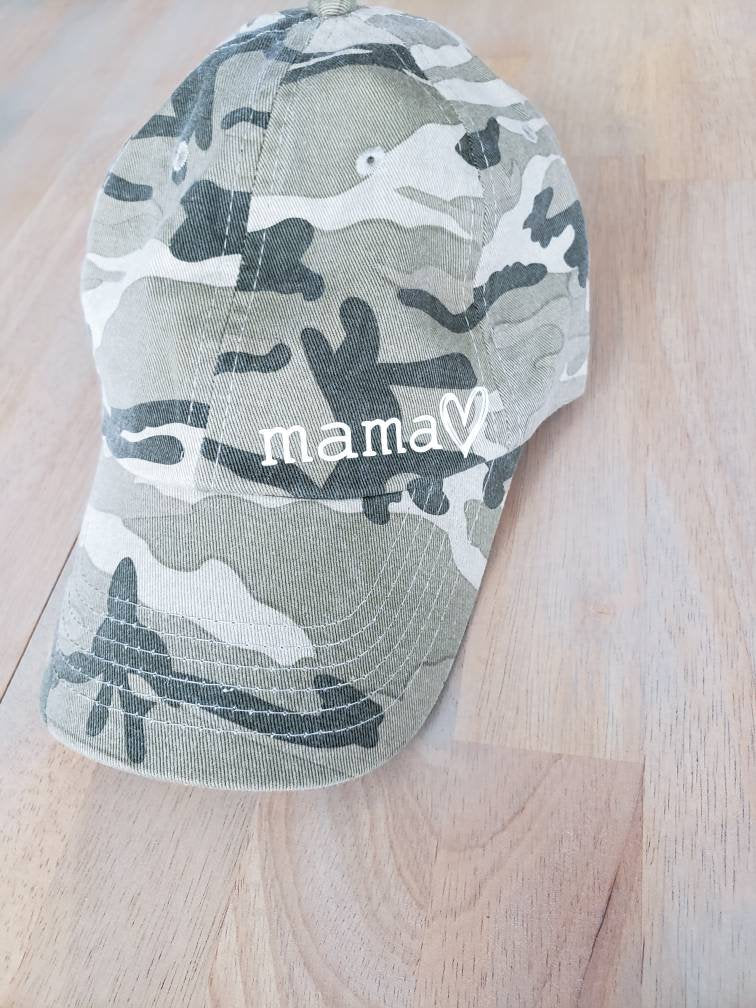 Camo Mama Hat • One Size Adjustable Hat -