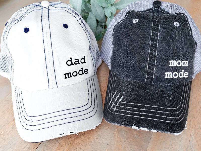 Mom and Dad Hats • Mom Mode Dad Mode Hat -