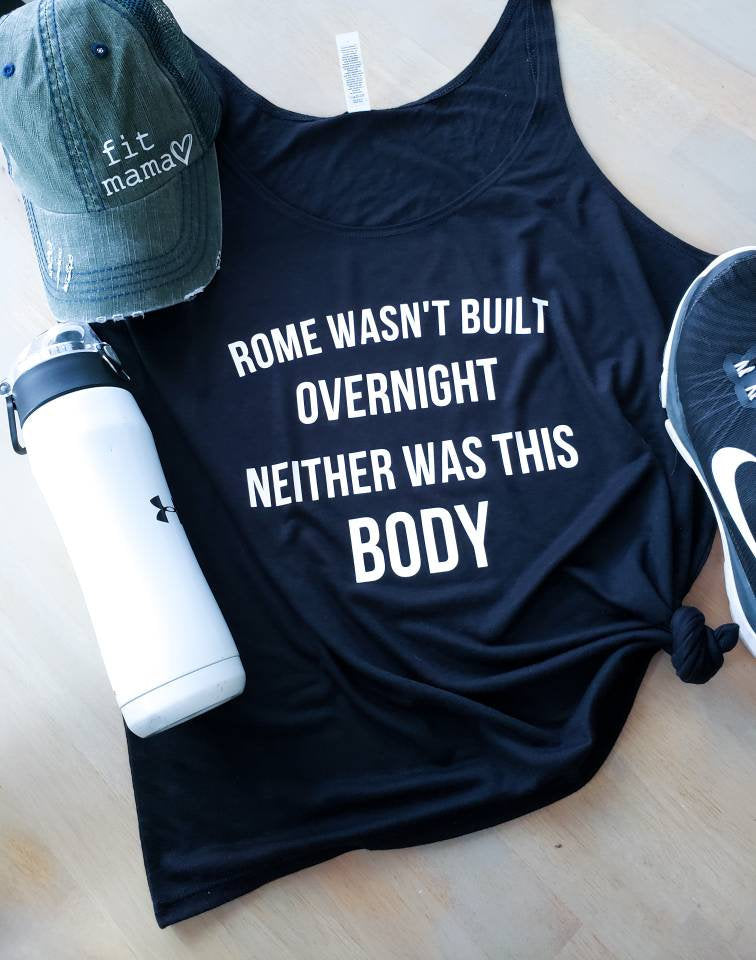 Rome Wasn't Built Gym Tee • Gym Tank -