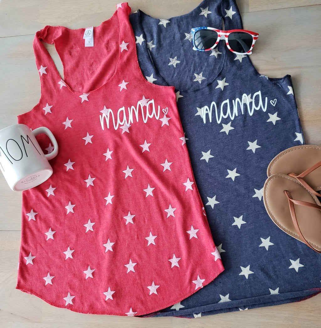 Mama star tank • Fourth of July Tank Top -
