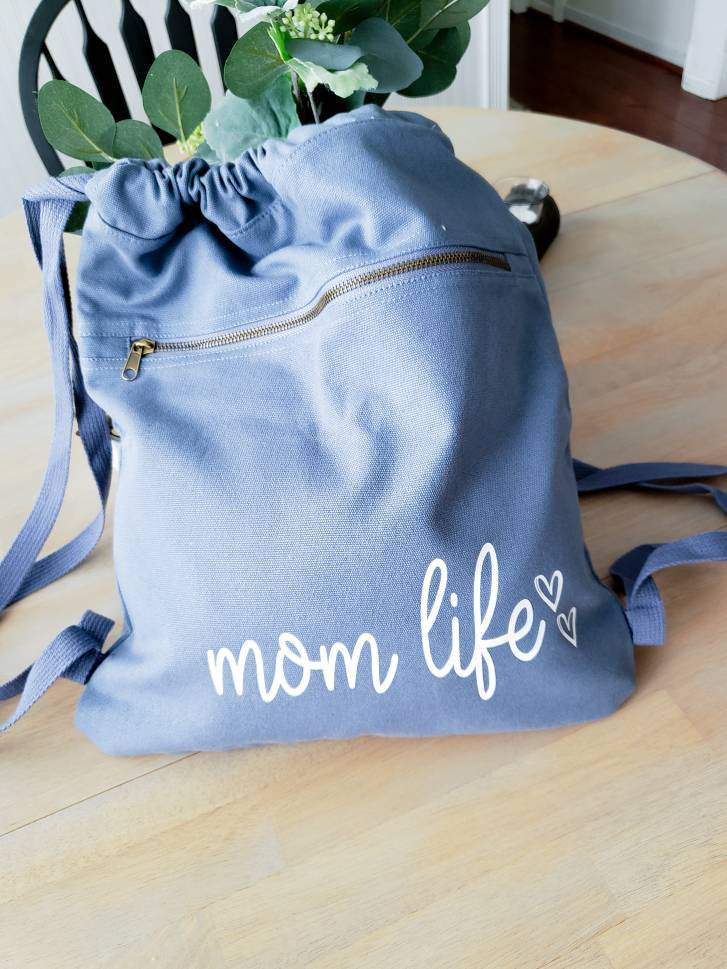 Momlife Backpack • Mama tote Bag -