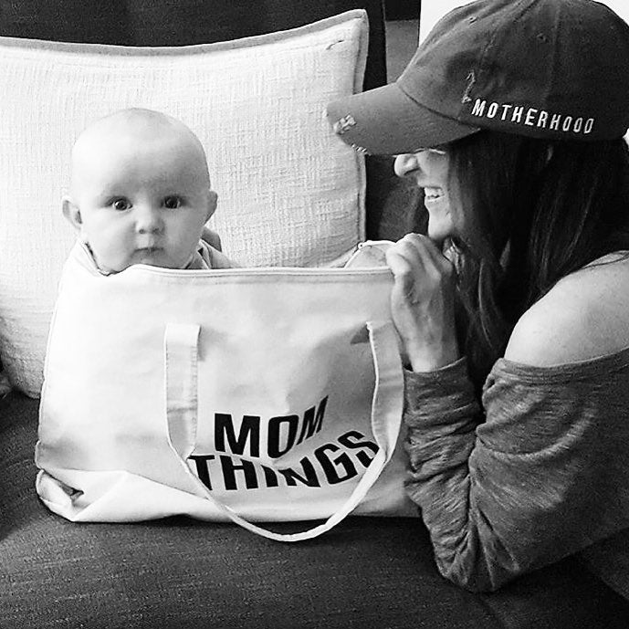 Mom Things Tote • Canvas tote bag -