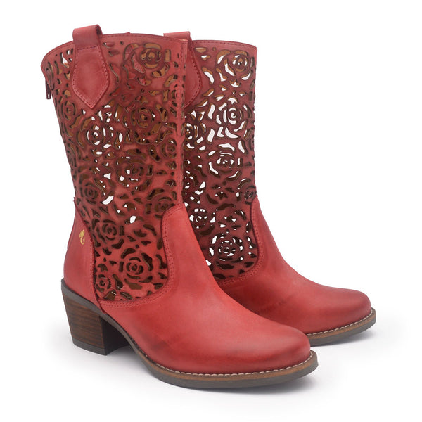 SHANIA Red western boot