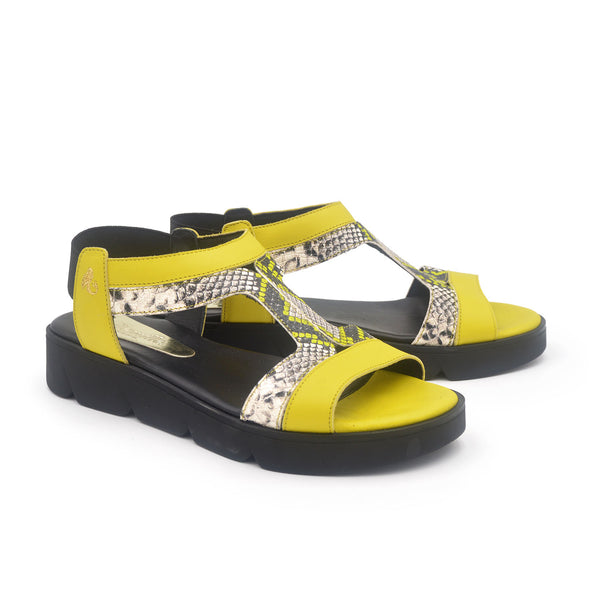 FRIDA Neon snake everyday sandal