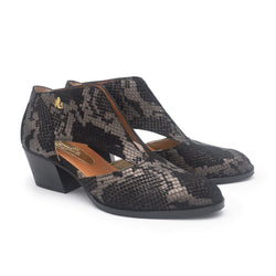 PATSY Black snake cutout shoe