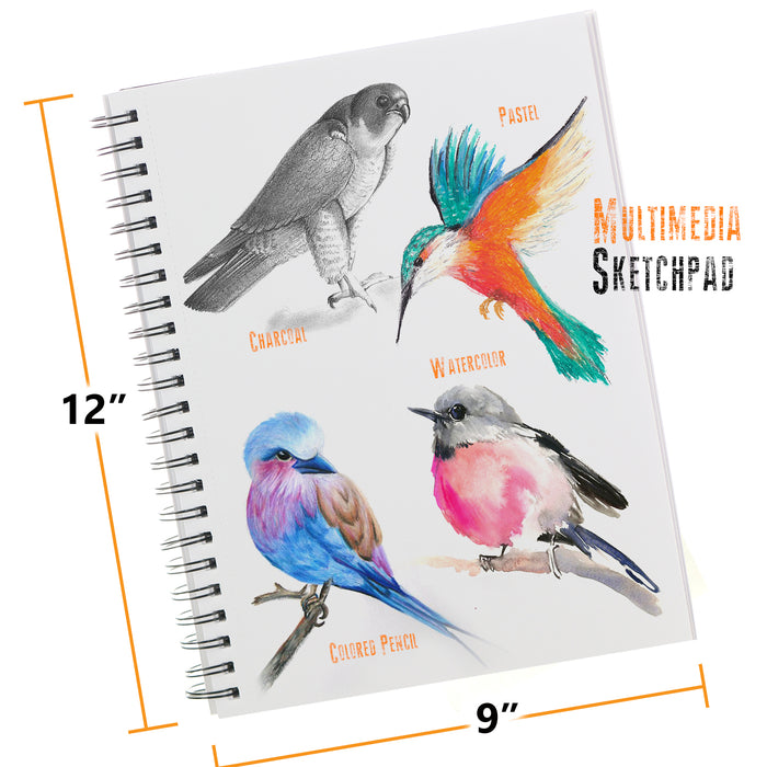 33 Piece Drawing & Sketching Bundle - With Sketch Book