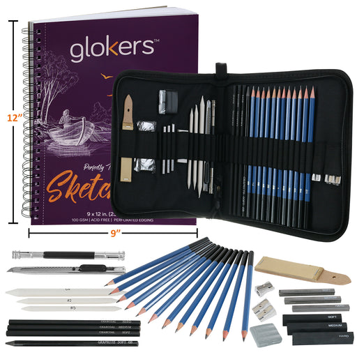33-Piece Sketching Art Supplies Set