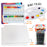 Acrylic Paint Set - 24 Colors 10 Brushes 3 Pc Canvas Panels and Palette