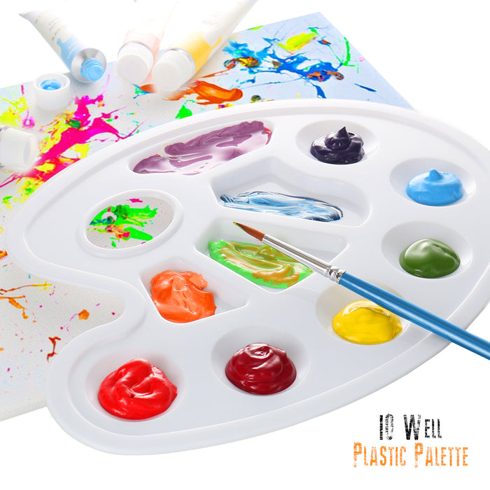 Acrylic Paint 24 Colors 3 Paint Brushes and Paint Palette