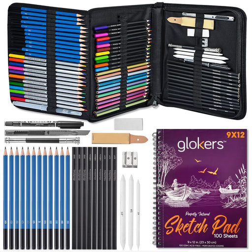 72-Piece Arts Supplies and Drawing Kit Set