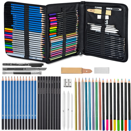 71-Piece Arts Supplies and Drawing / Sketching Kit Set