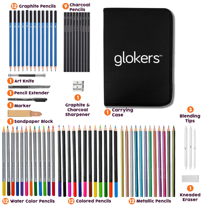 71-Piece Arts Supplies and Drawing Kit Set