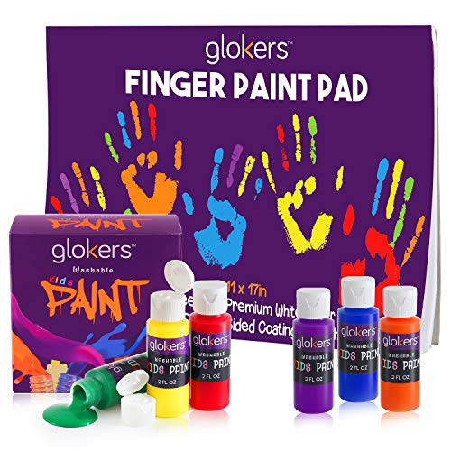 Finger Paint Pad & 6 Colors (glokers) Paint