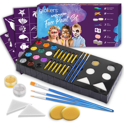 Watercolor Face Paint Set - Full Set