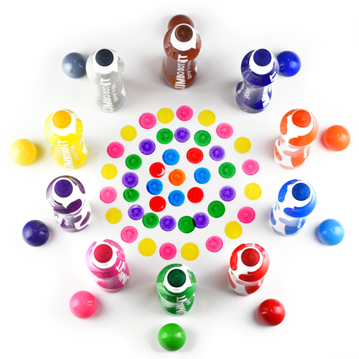 Jumbo Washable Dot Paint Markers - 10 Colors